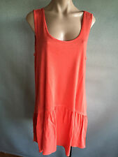 Womens Sz 18 Autograph BRAND Tangerine Sleeveless Stretch Tunic Top