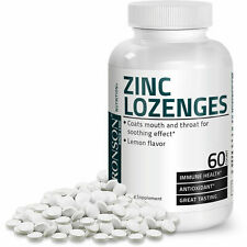 Bronson Zinc Lozenges Antioxidant Immune Support Supplement 60 Chewable Tablets