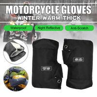 Motocicleta moto manillar Grip Muffs Guantes Mitts calentador de manos impermeab