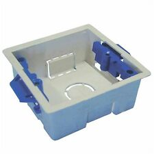 1 Gang 47mm Single Dry Lining Plasterboard Cavity Wall Mounting Back Box