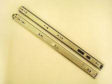 "Knape & Vogt 8350, 20"" Box Drawer Slide, 3/4 Ext., Chrome, 75-lb, 1 Pair !31A!"