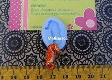 Moule Silicone hippocampe 2cm/1mm - pour fimo, résine, plâtre, porcelaine froide