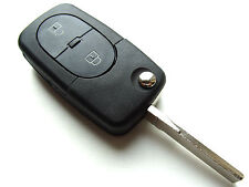 VW Golf Polo Jetta Passat etc...2 Button Flip Remote Key Fob Case CR1620 Battery