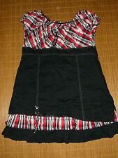 Karierte Kurzarm Damenblusen, - tops & -shirts mit Carmen-Ausschnitt