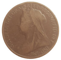 1900 ONE PENNY OF QUEEN VICTORIA     #SEP31