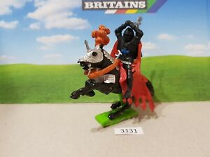 Britains Deetail Crusader Mounted Black Knight (lot 3131)