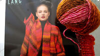 600g WEST LUXE von Lang Yarns Rot Effekte Farbverlauf MERINO NATUR UVP 71,40 €