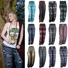 Harem Pants New Hippie Elephant Baggy Boho Genie Trousers Ali Yoga Beach Thai UK