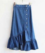 Denim Ruffle Skirt free size 25 - 30