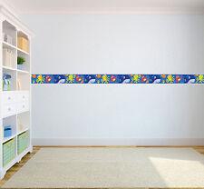 Aqua Time Children's Bedroom Self Adhesive Wallpaper Border Boys Girls Nursery