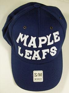 2014 Winter Classic Toronto Maple Leafs CCM Flex Fit Blue Hat Cap Size S/M