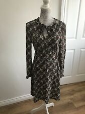 NEW  RRP £45 M/&S Collection Printed Fit /& Flare Swing Dress 64:A