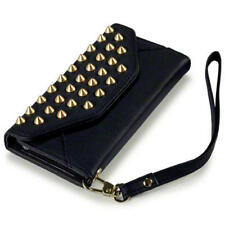 Terrapin Trendy Studded Rock Chic Purse Style Case for iPhone 5 - Black