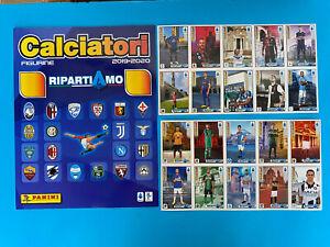 Figurine Calciatori Panini 2019-20 2020 Mini Album RIPARTIAMO + 20 Figurine