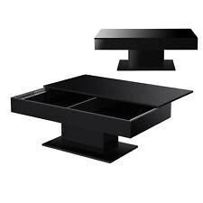 B-WARE Couchtisch Tisch Beistelltisch Wohnzimmertisch Sofatisch Staufach Schwarz