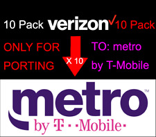 10x Verizon Phone Number To For Port To Metro by T-Mobile Only- Area Code-Random