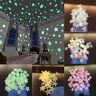 Kids Star Luminous In Wall Room Stickers Star Decor Glow Moon 100Pcs Dark The