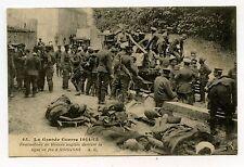 WWI . EVACUATIONS DE BLESSES ANGLAIS DERRIERE LA LIGNE DE FEU A SOISSONS .