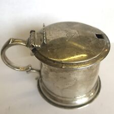 Antique Victorian Solid Silver Mustard Pot  Joseph Angell II 1843 Liner Missing