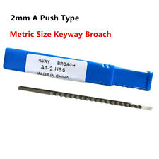 2mm A Push Type Keyway Broach Cutter Metric Size Metalworking Cnc Cutting Tool