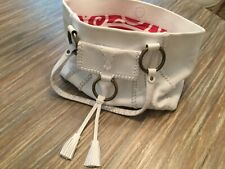 ISABELLA FIORE MEDIUM White Leather TOTE BAG HANDBAG