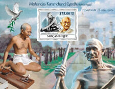 MOZAMBIUE GANDHI DOVE TAJMAHAL MINIATURE SHEET WHITE GUM MNH