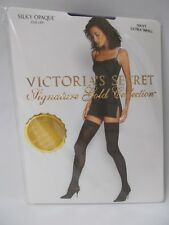 Victoria's Secret Signature Gold Collection Silky Opaque Stay Ups Navy Extra Sm