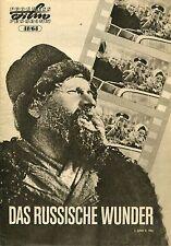 DAS RUSSISCHE WUNDER I. UND II. TEIL (Progress Film Programm 31/63) ca 30 Seiten