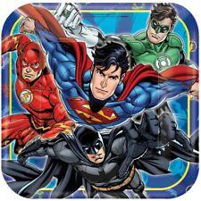 DC Comics Liga de la Justicia PLATOS DE PAPEL 23 cm - Pack 8 Vajilla Fiesta