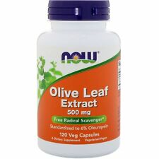 Now Foods Olive Leaf Extract - 120 - 500mg Vcaps - Antioxidant Support