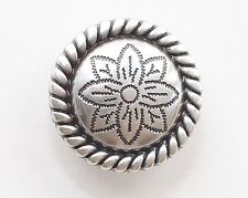 """1"""" Daisy Celtic Screwback Concho in Antique Nickel 1 Piece Package"""