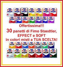 OFFERTA di 30 panetti di Fimo Effect e Soft Staedtler in colori a tua scelta