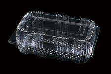 """50 Clear Plastic 7"""" Food Take Out Clamshell Container Cupcake Cookie Favor  #S6"""