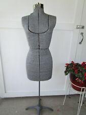 Vtg~Antique Adjustable Female Mannequin Display Dress Form Cast Iron/Metal Stand