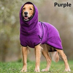 Dog Puppy Hooded Jacket Solid Coat Pet Soft Fleece Vest Winter Warm Clothes S-5X