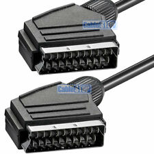 1.5m SCART LEAD - SUPER QUALITY FULLY WIRED 21 PIN TV DVD AUDIO VIDEO SKY CABLE