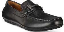 size 8 Alfani  Len Black Leather Moc Loafers Slip On Mens Drivers Shoes