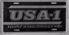 USA-1 TODAY'S CHEVROLET LIVE IT!  ALUM LICENSE PLATE  MADE US CHEVY CHEVELLE SS