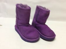 UGG Kid's Youth Classic 5251T Sheepskin Boots Purple Youth Size 7 Like Nu Toddle