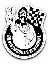 Dr Oldsmobile W Machine Checkered Flag Sticker 4-4-2 W30 Peace Die Cut Out Decal