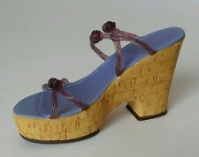 +Raine Willitts Designs Collectible Just The Right Shoe 1999 Cork Wedge #25093