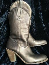 Metallic Leather Cowboy Boots Jessica Simpson 8.5