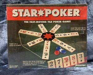 Star Poker Pressman Tile Poker Board Game Brand NEW Sealed
