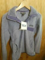 patagonia retool snap-t pullover womens size M purple 2014