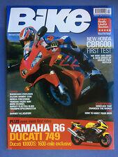 BIKE - February 2003 - Yamaha YZF-R6 - BMW R1200CL - Suzuki GSF1200S Bandit