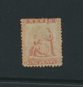 NEVIS 1861, 1d BLUE PAPER VF UNUSED SG#1(OLD 5a) SIGNED CAT£300 (SEE BELOW