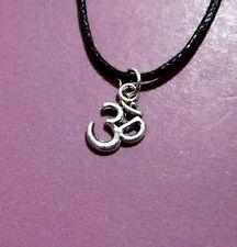 Om Aum Buddhist Hindu Symbol Pendant Adjustable Necklace