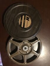 Vintage Harwood 8mm Metal Film Can and Reel. With plastic Clutch and insert.