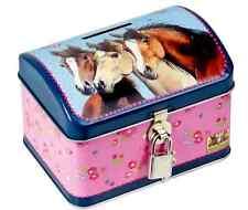 Piggy Bank Tin Money Box Horse Lovers 13372 Spiegelburg - NEW