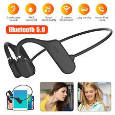 Bluetooth 5.0 Bone Conduction Headset Wireless Open Ear Outdoor Sport Headphones